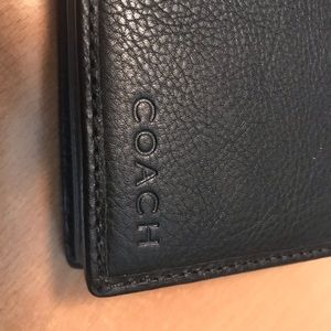 BRAND NEW MENS COACH BLACK LEATHER WALLET